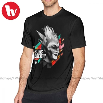 цена на Hardwell T Shirt Boris Brejcha T-Shirt Mens Fashion Tee Shirt Funny Print Short Sleeves Cotton Plus size Tshirt