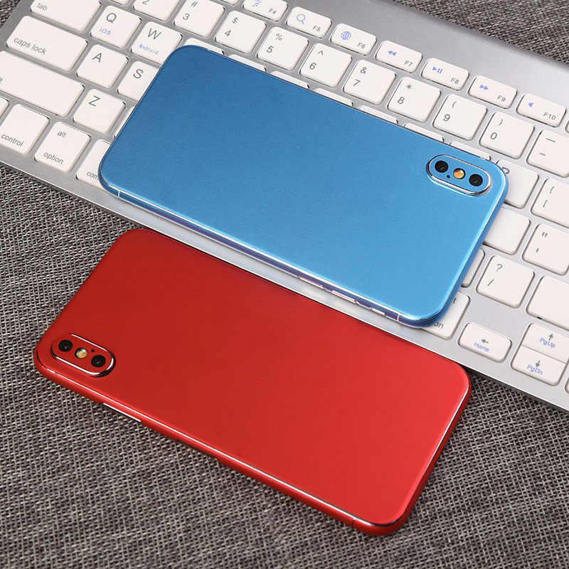 Роскошные яркие наклейки на мобильный телефон для iPhone 7 6 6 S 8 Plus 5 задняя защитная пленка наклейка для iPhone X XS наклейка Adesivos Pegatinas
