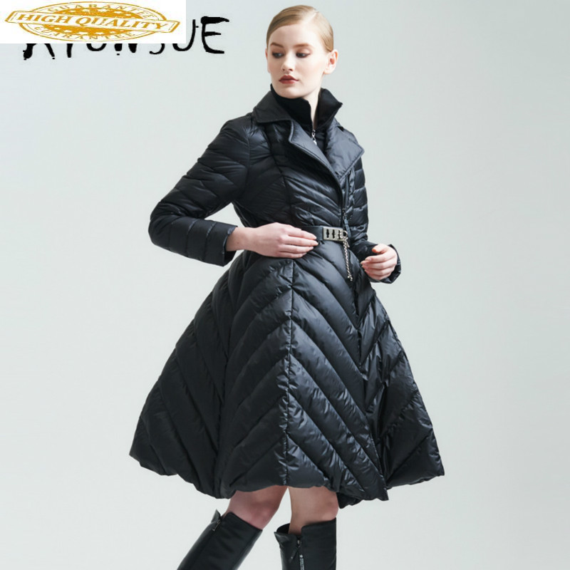 Puffer Jacket Women 90% White Duck Down Jacket Women Korean Down Coat Women Winter Coat Warm Parka Casaco EF3228 YY1649