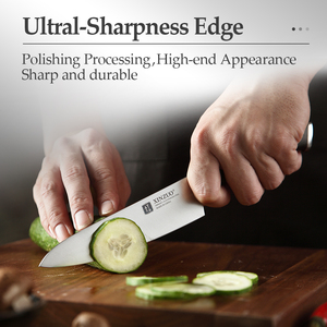 """Image 5 - XINZUO 5"""" inch Utility Knife GERMAN 1.4116 Steel Best Kitchen Knife New Parer Fruit Knife with Ebony Handle Kitchen Accessories"""