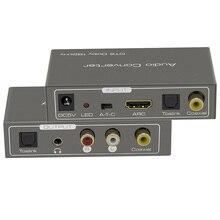 قوس محول الصوت HDMI مستخرج الصوت الرقمي إلى التناظرية محول صوت 192 كيلو هرتز محوري toslink إلى التناظرية 3.5 مللي متر جاك الناتج