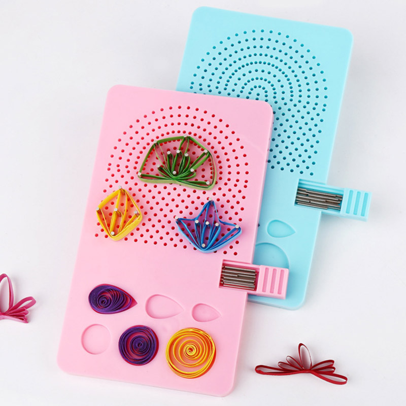 Paper Quilling Board With Pins Grid Guide For Paper Crafting Winder Roll Square DIY Crafts Tools VJ-Drop
