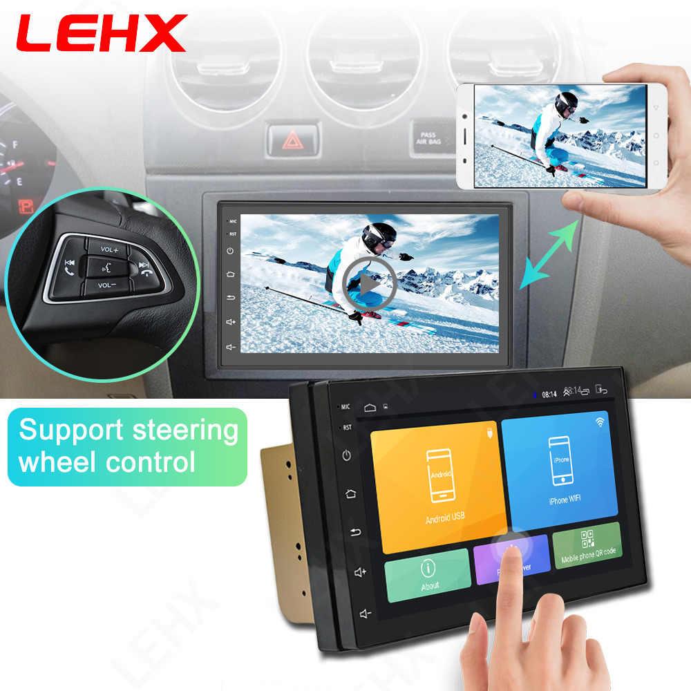 7 cal Android 8.1 2 Din samochód multimedia radiowe odtwarzacz uniwersalny auto stereo nawigacja gps z bluetooth odtwarzacz wideo kamera cofania