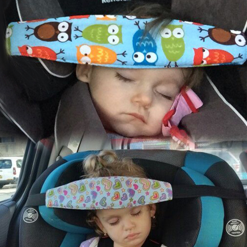 Baby Safety Pillow In Car Infant Kids Car Seat Head Support Children Belt Fastening Belt Adjustable Playpens Sleep Positioner