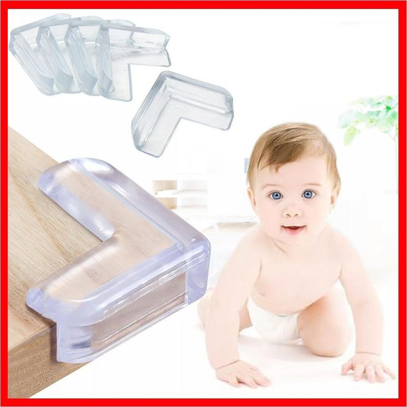4pcs Baby Safety Silicone Transparent Protector Anti Collision Angle Table Corner Edge Protection Cover Child Corner Protecor