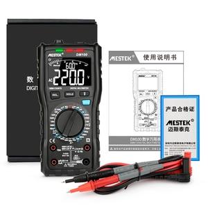 Image 4 - MESTEK DM100 dijital multimetre yüksek hızlı akıllı çift çekirdekli t rms NCV sıcaklık multimetro anti yanık sigorta alarmı multimetreler
