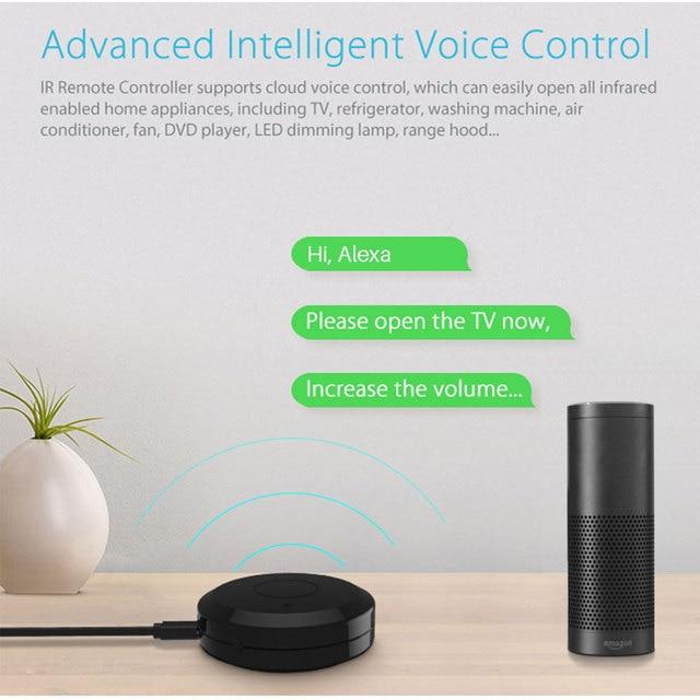 Tuya universel intelligent WiFi IR télécommande pour TV climatiseur commande vocale fonctionne avec Alexa Google maison intelligente maison