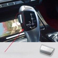 Cubierta de botón de desbloqueo de estacionamiento de engranaje de coche, pegatina para Bmw 1, 2, 3, 4, 5, 6, 7, X3, X4, X5, X6 Series