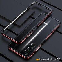 Huawei社ノヴァ5tケースオリジナル高級光沢のあるアルミバンパーケースhuawei社ノヴァ5tカバーfundas名誉20 20s pro金属フレーム