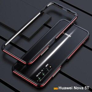 Image 1 - Voor Huawei Nova 5T Case Originele Luxe Glossy Aluminium Bumper Case Voor Huawei Nova 5T Cover Fundas Honor 20 20S Pro Metalen Frame