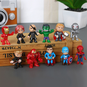 12pc/set Avengers Cake Topper Spiderman Caketopper Dacoration Superman Doll Boys Happy Birthday Event Party Supplies Baby Shower(China)