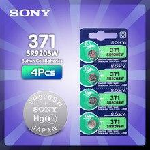 4 шт. SONY 45 мАч AG6 371 SR920SW LR920 171 370 371 L921 LR69 SR920 SR69 1,55 в, часовая батарейка, батарейка из оксида серебра