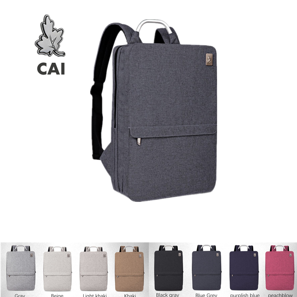 CAI Couple Backpack Minimalism High Quality Laptop Business Travel Male Female 2020 Fashion bags Waterproof Men School  Style