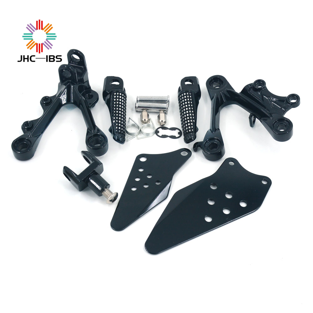 Motorcycle Footrests Rear Foot Pegs Pedals Rest Footpegs For KAWASAKI ZX6R ZX 6R ZX-6R 2009 2010 2011 2012 2014