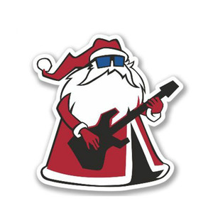 13cm x 12cm Cool Rock Santa Sticker for Laptop Luggage Notebook Skateboard Snowboard Decal Car Styling Car Stickers(China)