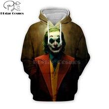 PLstar Cosmos 2019 dc haha joker 3d Hoodies Hooded Sweatshirt shirt Autumn Winter long sleeve Harajuku Halloween streetwear-6