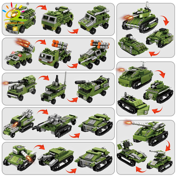 """Конструктор HUIQIBAO """"Военный танк"""", 8 в 1 4"""
