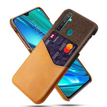 For Oppo Realme 5 Case Luxury PU Leather and Soft Fabric Splicing Design Anti-scratch Cover For Oppo Realme 5 Pro Case Card for oppo realme 5 case luxury pu leather and soft fabric splicing design anti scratch cover for oppo realme 5 pro case card