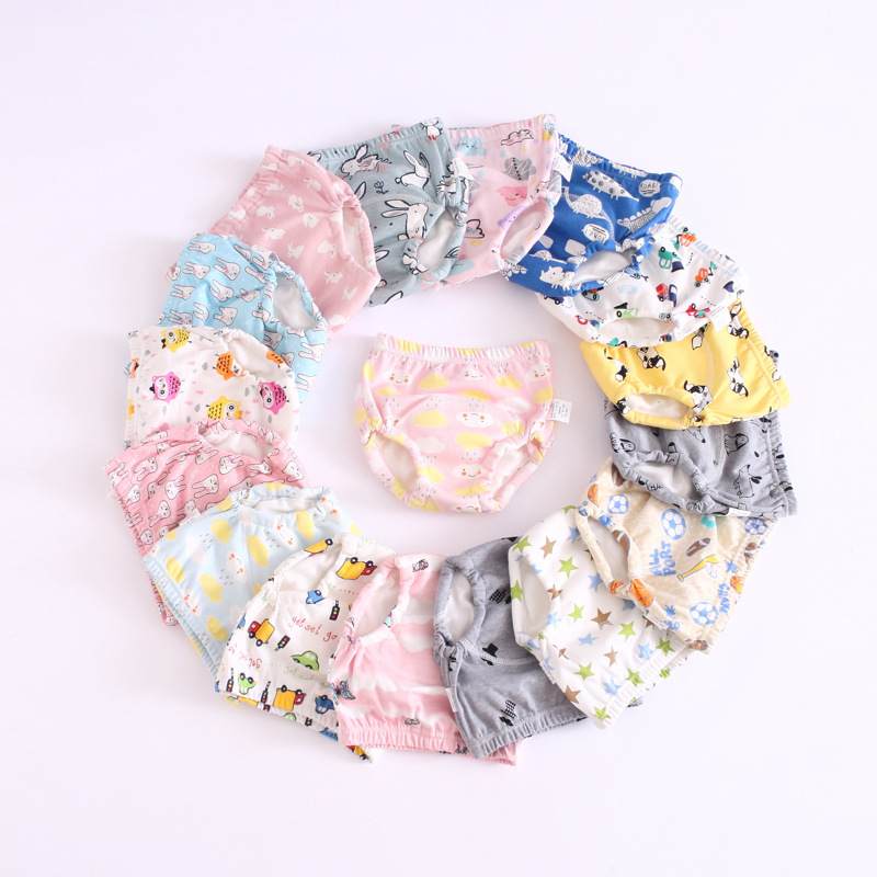 Baby Washable Reusable Pocket Nappy Children Diaper Potty Training Cotton Pants Adjustable Diapers Swim  Breathable Newborns