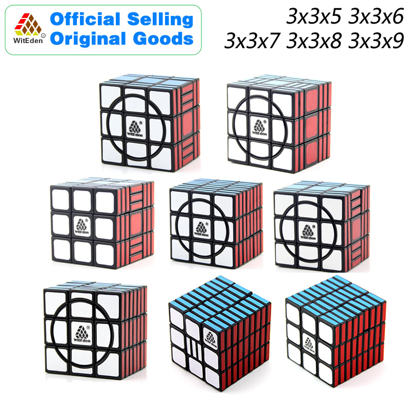 WitEden Super 3x3x5 3x3x6 3x3x7 3x3x8 3x3x9 Magic Cube Puzzles Speed Brain Teasers Challenging Educational Toys For Children