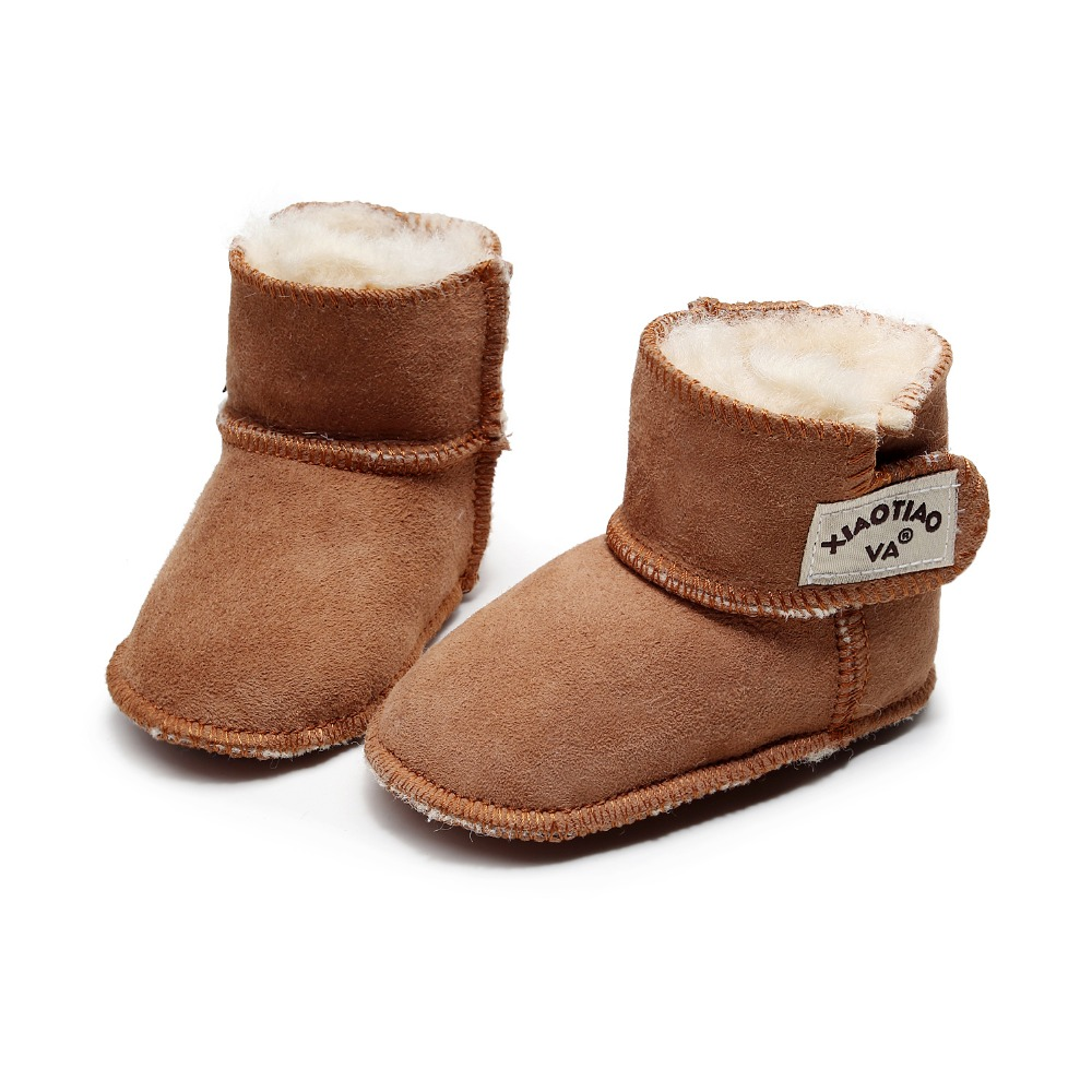 2019 Brand Nature Fur New Newborn Baby Infant Toddler Girl Boots Crib Shoes Prewalkers Furry Snow Winter Warm Boots