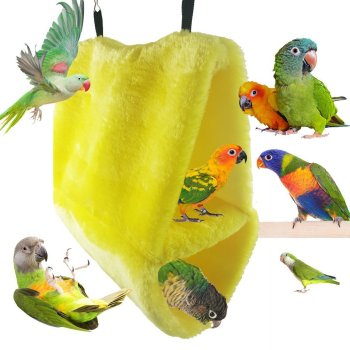 Large Size Double Layer Fleece Nest Parrot Bird's Nest Warm Cotton Pet Nest Cotton Hammock Triangular Fossa Large Cage