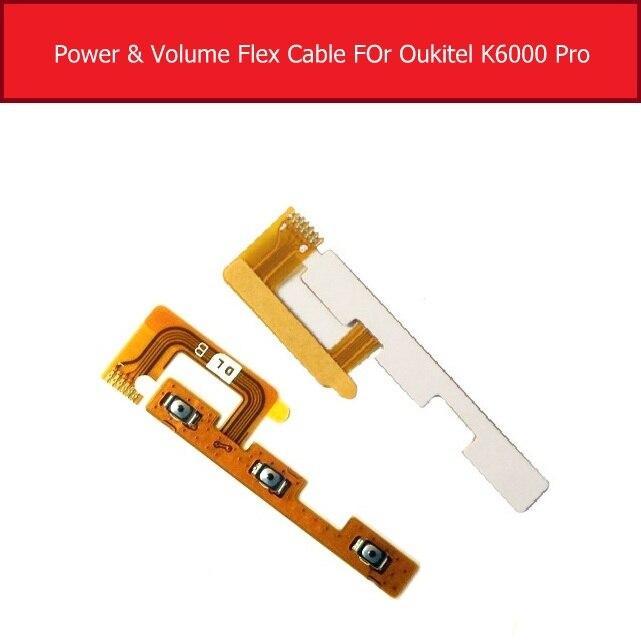Cable flexible de encendido/apagado para Oukitel K6000 Pro interruptor de Control de volumen de alimentación Flex Ribbon accesorios de piezas de repuesto Receptor de Cargador Inalámbrico Universal ultradelgado 100% nuevo para Oukitel K5000 Mix 2 K8000 C9 C11 Pro U18 K6 K10 K6000 Premium