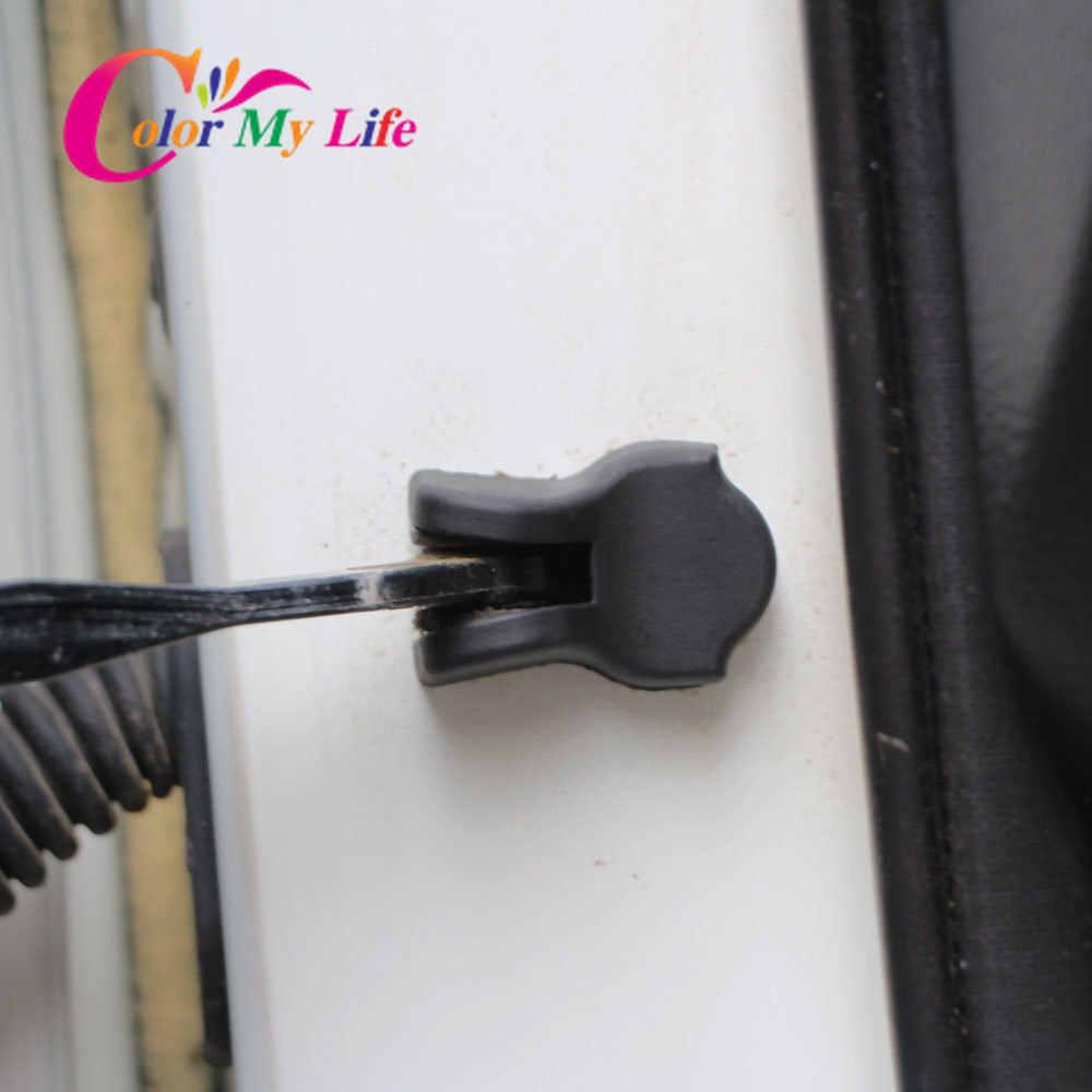 4 Buah ABS Interior Mobil Pintu Stopper Penutup Pintu Stiker untuk Nissan X-Trail Xtrail Ini dengan T31 T32 Qashqai j10 J11 Cerah Hari Ini Maret