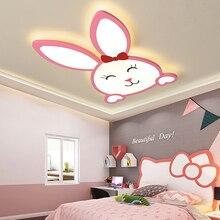 цена на Verllas Modern led ceiling light Rabbit pink kids baby lights for children room bedroom girls home lighting ceiling lamp