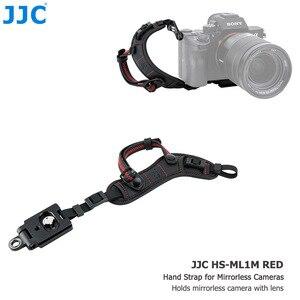 Image 5 - JJC ayarlanabilir hızlı bırakma el ve bilek kayışı Canon Nikon Sony için Fujifilm Olympus Pentax Panasonic tutar lensli fotoğraf makineleri