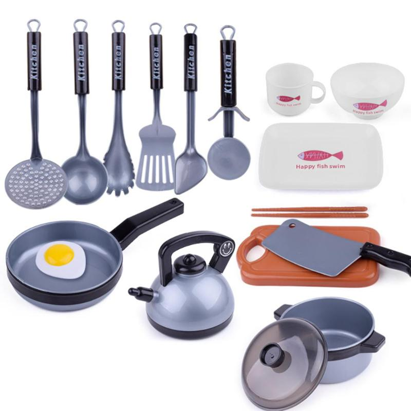 Simulation Cooking Pretend Play Kitchen Toy Set Creative Pretend Kitchen Toys Environmental Parent-child Early Education Toys