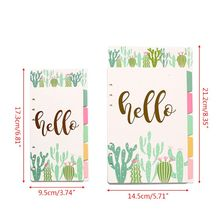 1Set Creative A5 A6 Loose Leaf Notebook Divider 6 Hole Index Separator Diary Paper Planner Binders Students Staionery