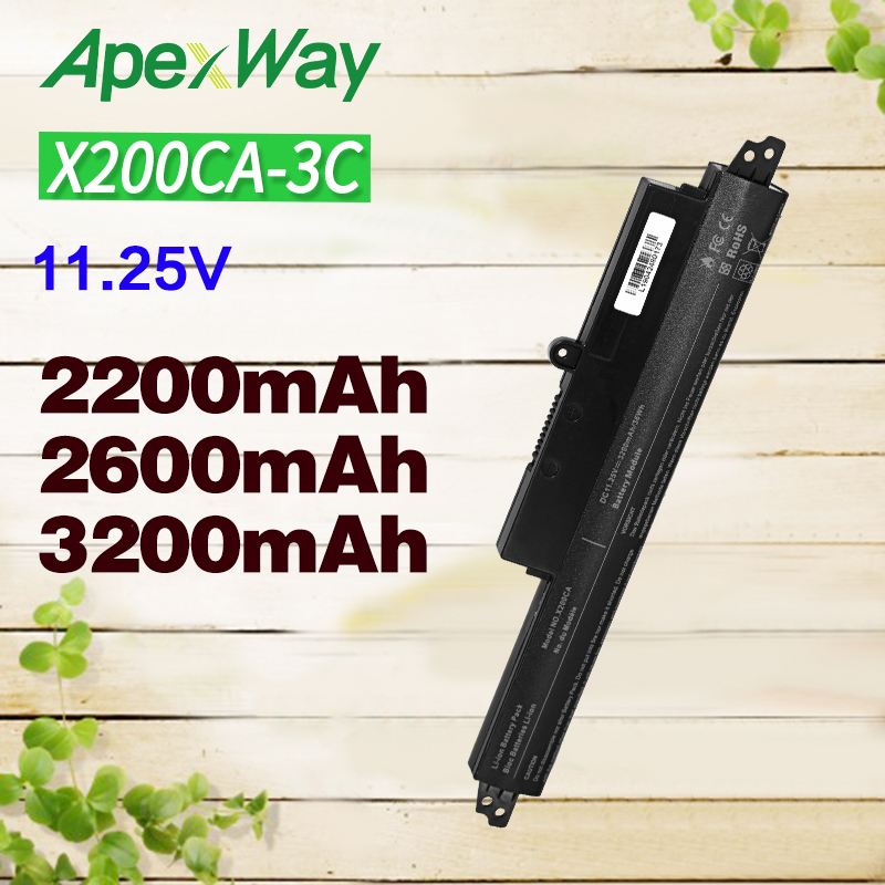 ApexWay Laptop Battery For ASUS A31N1302 A31LMH2 A31LMH2 A31LM9H For VivoBook X200M X200LA F200CA 200CA 11.6