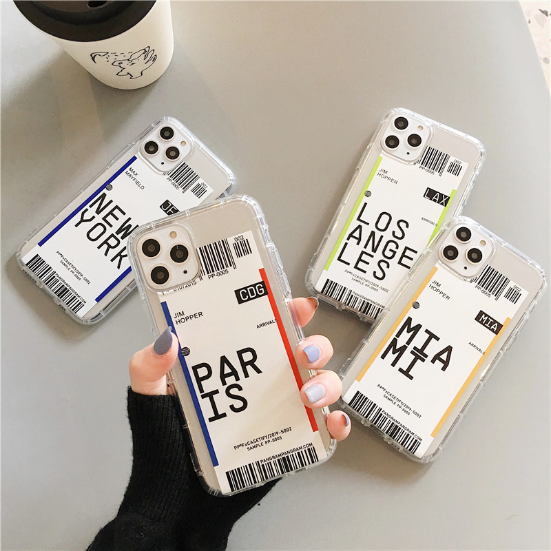 Creative Ticket for Mobile Phone Shell Silicone All-Inclusive Xsmax Protective Case Transparent Drop-Resistant Cover For Iphones