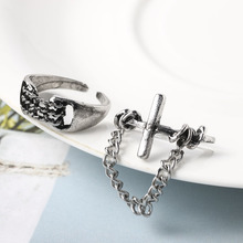 Adjustable Finger Jewelry Ring Animal Eagle Claw Paw Shape Stereoscopic Trendy Style Heavy Metals Punk Rock Rings for Women Man