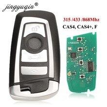 Jingyuqin 5 sztuk 315/433/868Mhz inteligentny klucz zdalnego KeylessGo dla BMW 3 5 7 serii 2009-2016 CAS4 F System KR55WK49863 pcf7945