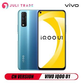 Перейти на Алиэкспресс и купить Смартфон CN Version VIVO IQOO U1, 1080x2340 бар, тройная камера 48 МП, разъем 3,5 мм, сканер отпечатка пальца, Snapdragon 720G