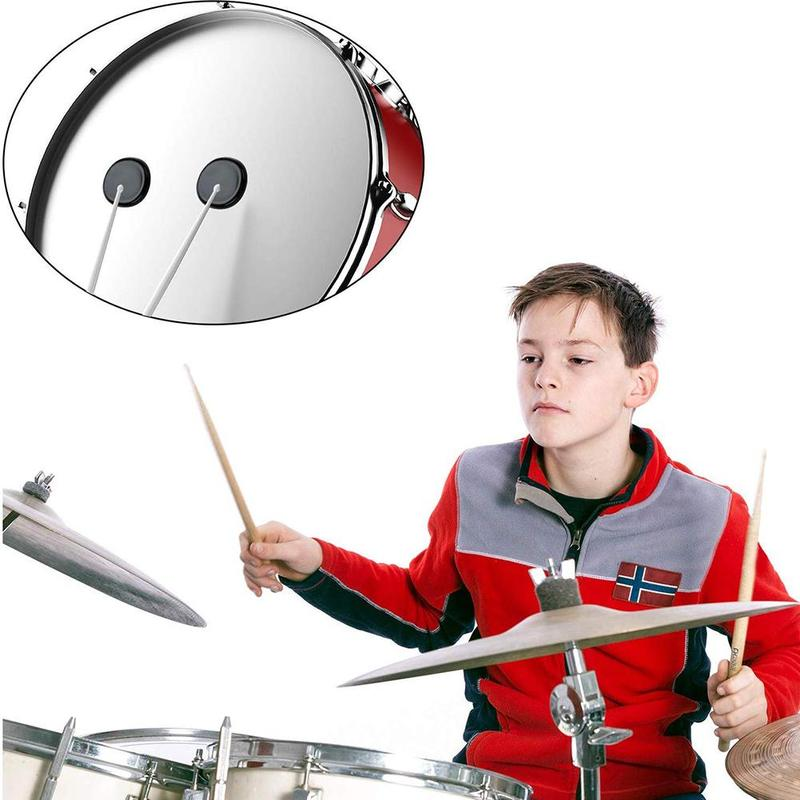 6 Pcs/ Set Silicone Self-adhesive Snare Drum Mute Pad New Dumb Drum Pad Percussion Damping Pad Transparent Muffler