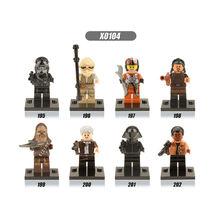 X0104 Single Sale Building Bricks Figure Solo Rey Poe The Force Awakens Finn Han Troopers Birthday Gifts For Children Toys