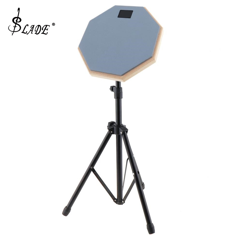 Rubber Wooden Dumb Drum Practice Training Drum Pad With Stand For Jazz Drums Exercise