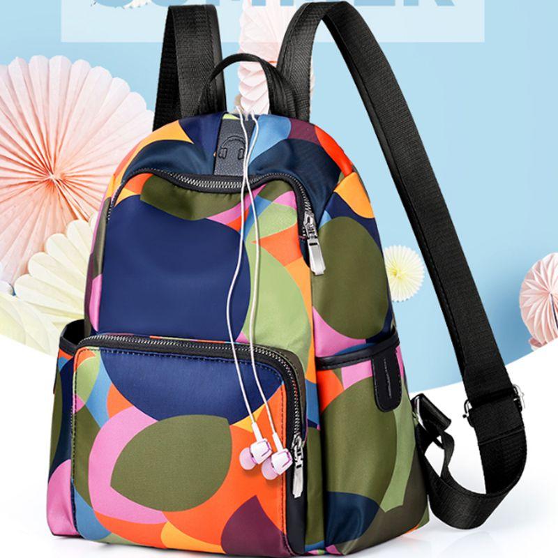 Women Backpack Waterproof Anti-theft Oxford Cloth Travel Backpack Rucksack Shoulder Bag School Bag /BY