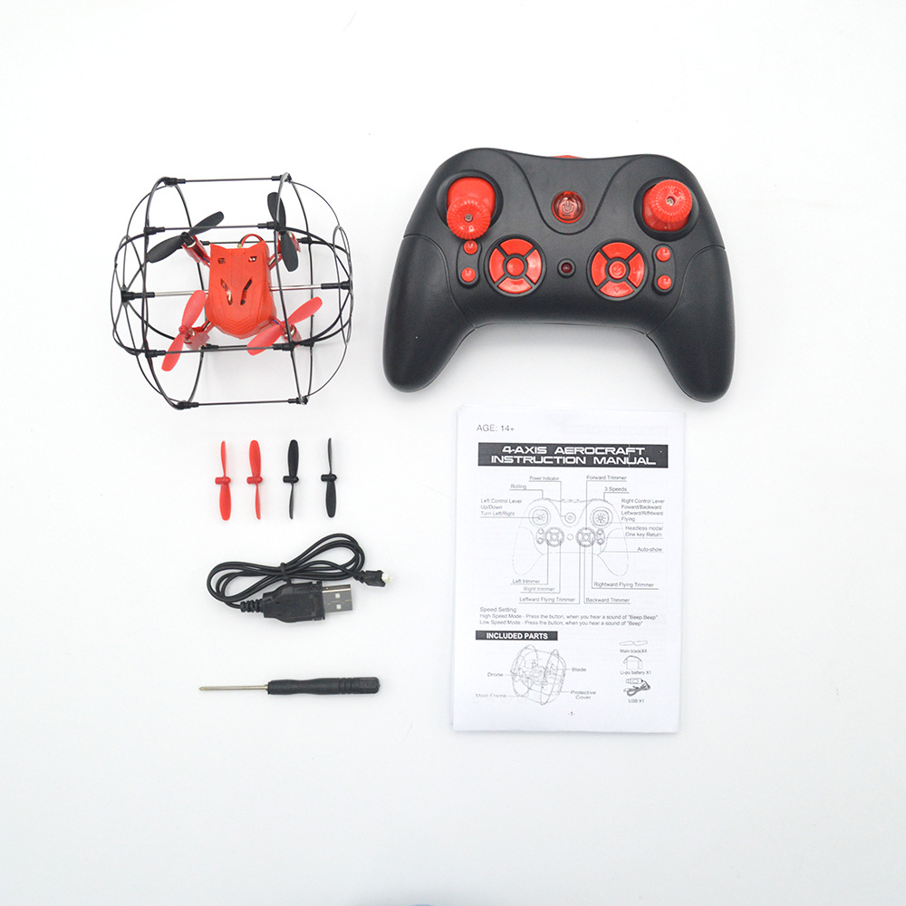 Lh-x22 Airplane Remote Control Spherical Aircraft-Climbing Up A Wall-Ground Walking Quadcopter Four-Rotor