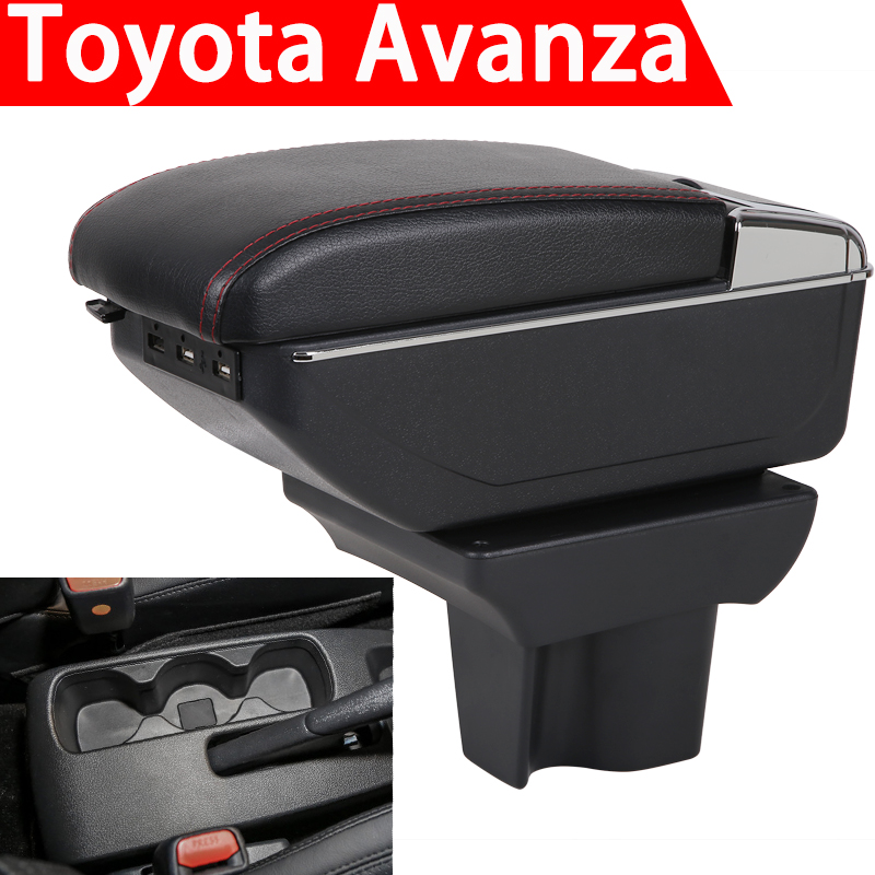 for 2019 Toyota Avanza armrest box universal car center console caja  modification accessories double raised with USB|Armrests| |  - title=