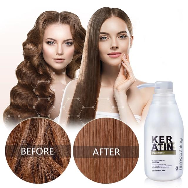 Восстановление волос с чистым кератином, формалин 5%, профессиональный выпрямитель для вьющихся волос, наращивание волос, блестящий цвет