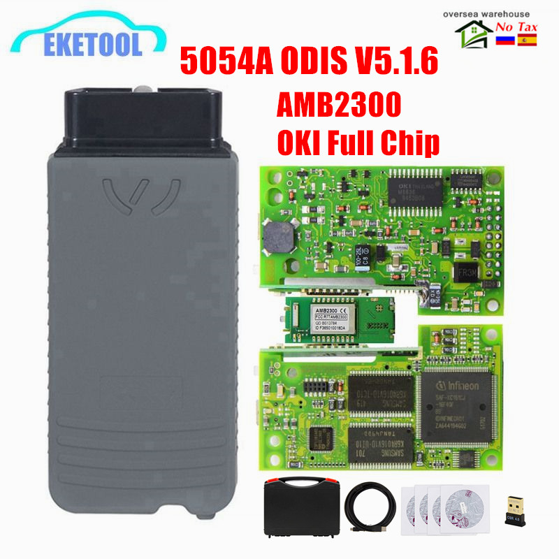 5054A ODIS 5.1.6 Free Keygen 5054a UDS Bluetooth 5054 For VAG/AUDI/VW Multi-Language Original AMB2300 6154 WIFI ODIS 5.1.5