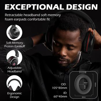 EKSA Gaming Headset Gamer E900 PRO Headset 7.1 Surround Sound Wired Headphones LED USB/3.5mm Earphones with Mic For Xbox PC PS4 6