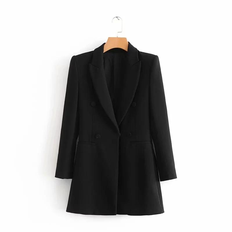 COZARII 2018 casaco feminino blazers england style hidden breasted solid women bomber blazers jacket plus size tops Dropshipping
