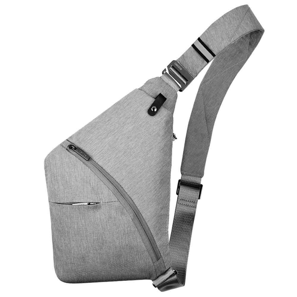 OSOCE Anti-Diebstahl Umhängetasche Schulter Tasche Sling Brust tasche Wasserdichte Abdeckung Pack Rucksack Fahrrad Sport