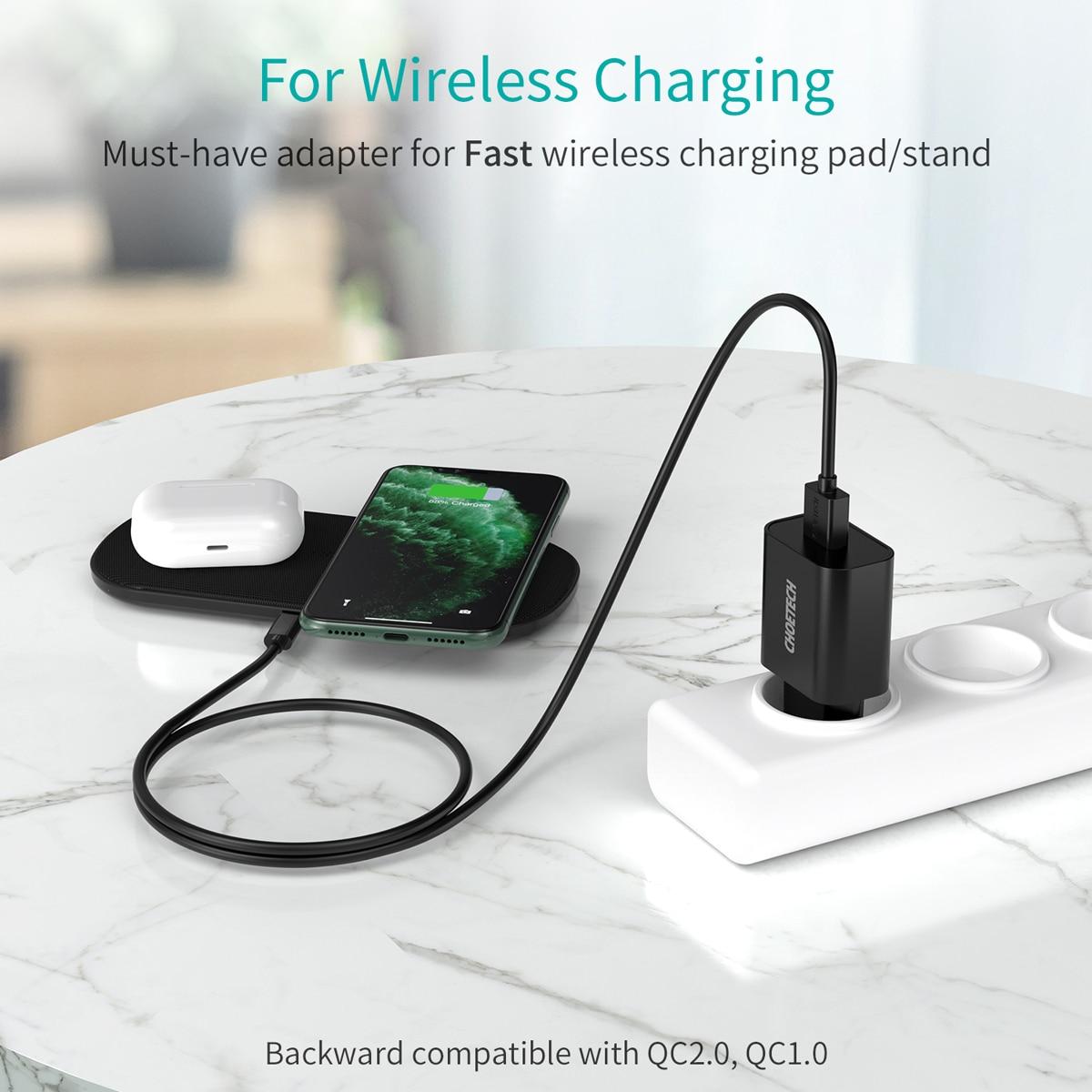 CHOETECH Quick Charge 3.0 18W USB зарядно за стена за - Резервни части и аксесоари за мобилни телефони - Снимка 4