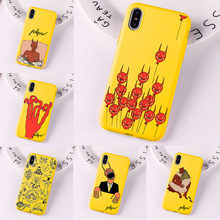 Polly Nor Painting Art Soft Silicone Yellow Phone Case for iPhone 6 7 8 Plus X XS 11 Pro MAX XR Aesthetic Women Devil Cover(China)